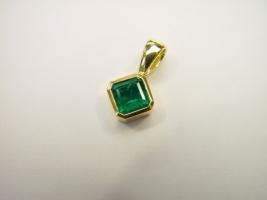 Smaragdanhänger, 750/- Gelbgold