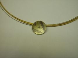 Anhänger, 585/- Gelbgold,Palladium, Brillant