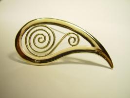 Keltische Brosche, 585/- Gold
