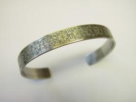 Armreif, 925/- Silber, Handgravur