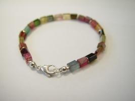 Armband, 925/- Silber, Turmaline