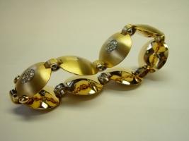 Armband, 750/- Gelb/Weißgold, Brillanten, Meisterstück Johannes Lippmann