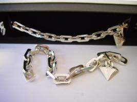 Paarschmuck, Armbänder, 925/- Silber