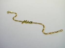 Namenarmband, 585/- Gold