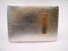 Gürtelschließe, 925/-Silber, Palladium, Feingold