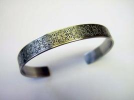 Silberner Armreif 925 - Handarbeit