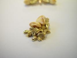 Grandeln in 585/- Gold verarbeitet
