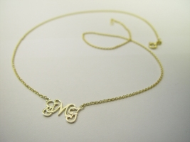 Monogrammcollier, 585/- Gold