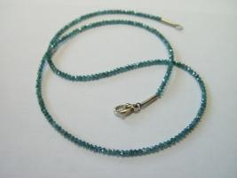 blauer Diamant, beh., 750/- Weißgold