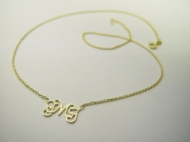 Monogrammcollier, 585/- Gold