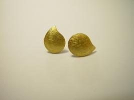 Ohrstecker, 925/- Silber, 900/- Gold, kratzmatt