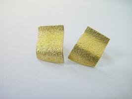 """Ohrstecker """"Welle"""", 925/- Silber,  900/- Gold"""