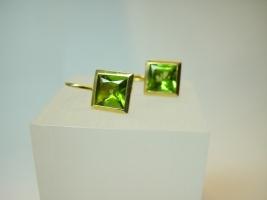 Ohrhänger, 750/- Gold, Peridot