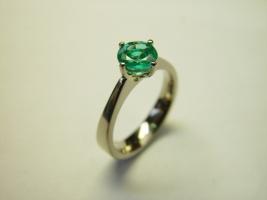 Ring, 585/- Weißgold, Smaragd