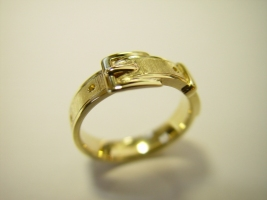 "Ring ""Gürtel"", 585/- Gold"