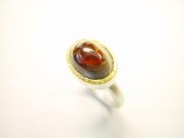 Ring, 925/- Silber, Feingold, Opal