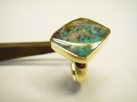 Ring, 585/- Gold , Opal