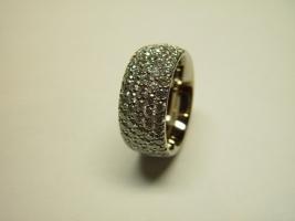 Ring, 750/-Weißgold, vollausgefasst mit Brillanten