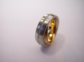 Ring, 960/- Platin, 750/- Roségold, Brillanten, Jörg Kaiser
