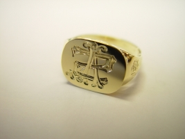 Ring, Gold, Handgravuren