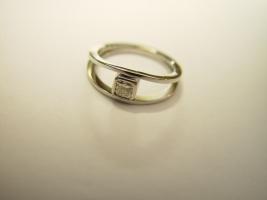 Ring, 960/- Platin, Radiant