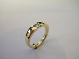 Ring, Kundengold und Brillant