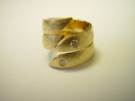 2 Ringe, Kundengold, Brillanten