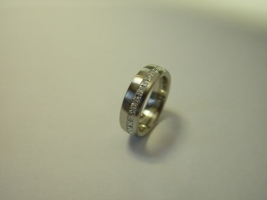 Ring, 960/- Platin mit Princess in Kanalfassung