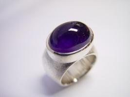 Ring, 925/- Silber, Amethyst