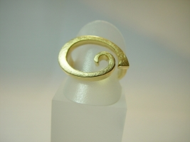 "Ring ""Volute"", 750/- Gold"