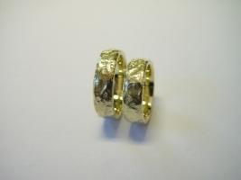 Trauringe, 585/- Gold, geschmort
