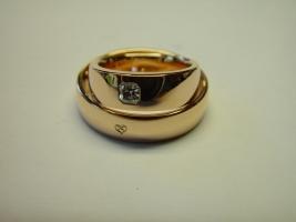 Trauringe , 750/- Gold, Radiant
