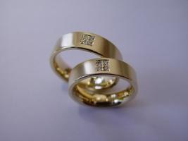 Trauringe, 585/- Gold, Brillant