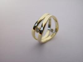 Witwenring, 585/- Gold, Brillant