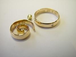 Witwenschmuck, Lebensspirale und Ring mit Brillant